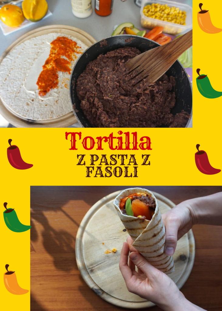 tortilla z pasta z fasoli