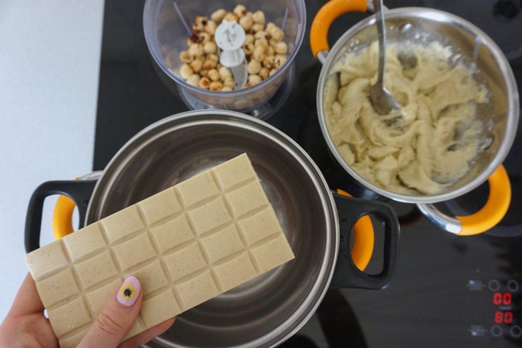 wegańska biała czekolada